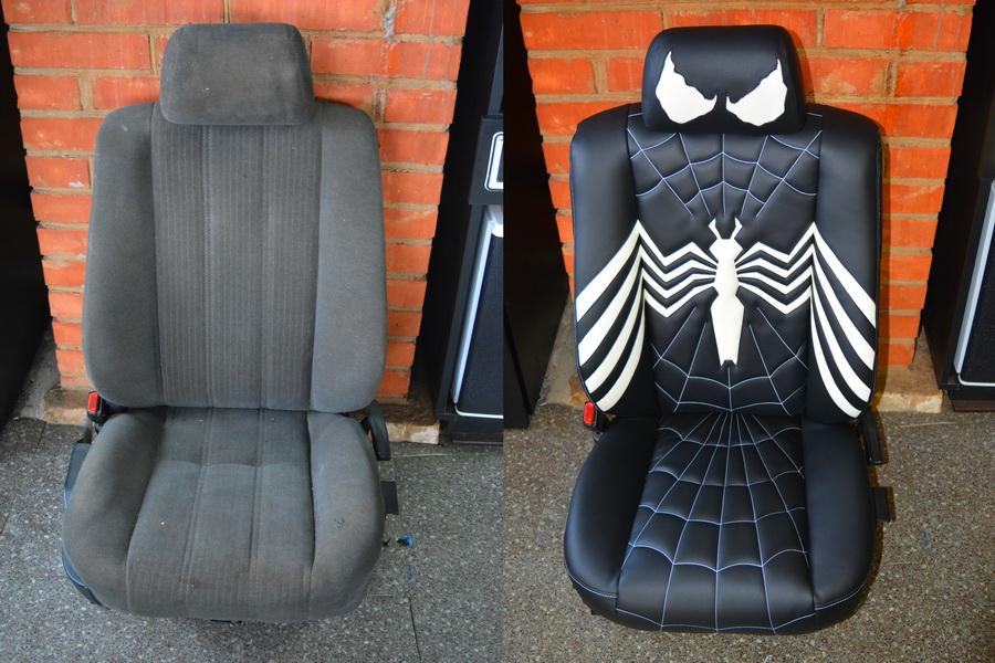 Обшивка сиденья автомобиля своими руками 44